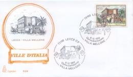 Italia 1984 FDC CAPITOLIUM Ville D'Italia Lecce Villa Mellone - Monumenti