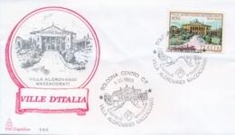 Italia 1985 FDC CAPITOLIUM Ville D'Italia Bologna Villa Aldrovandi Mazzacorati - Monumenti