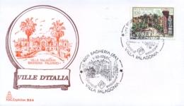 Italia 1986 FDC CAPITOLIUM Ville D'Italia Bagheria Villa Palagonia - Monumenti