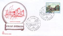 Italia 1986 FDC CAPITOLIUM Ville D'Italia Issogne Castello D'Issogne - Monumenti