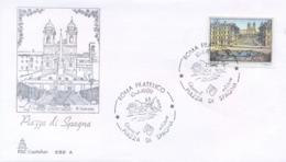 Italia 1989 FDC CAPITOLIUM Piazze D'Italia Roma Piazza Di Spagna - Altri
