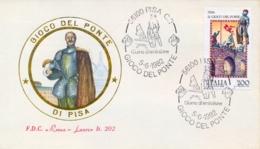 Italia 1982 FDC ROMA LUXOR Folclore Italiano Pisa Il Gioco Del Ponte - Culture