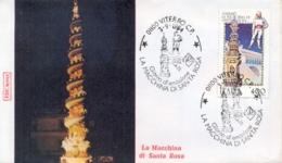 Italia 1984 FDC ROMA Folclore Italiano Viterbo La Macchina Di Santa Rosa - Culture