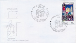 Italia 1985 FDC Folclore Italiano Potenza La Sfilata Dei Turchi - Culture