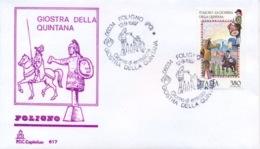 Italia 1987 FDC CAPITOLIUM Folclore Italiano Foligno La Giostra Della Quintana - Culture
