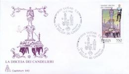 Italia 1988 FDC CAPITOLIUM Folclore Italiano Sassari La Discesa Dei Candelieri - Culture
