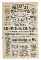 DOCUMENT Commercial ..Medailles, Armoiries, Affiches & Enseignes BERGERET, Rue D'Aboukir à PARIS...2 Scans - 1800 – 1899