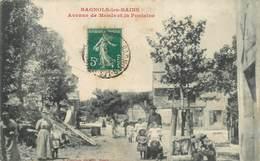 """.CPA FRANCE  48 """"Bagnols Les Bains, Avenue De Mende Et La Fontaine"""" - Francia"""