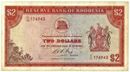 Rhodesia - 2 Dollars - 1974.01.10 - P 31.h - Serie K/84 - Sign. 1 - Rhodesia