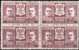 Brésil Poste N** Yv: 229 Mi:346 Getúlio Vargas & João Pessoa Bloc De 4 - Brésil