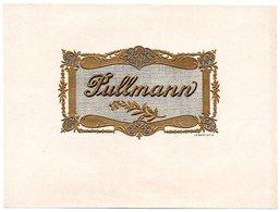 Etiquette De Boîte à Cigares, Lithographiée, Litho N° 28734 : PULLMANN - Etiquetas