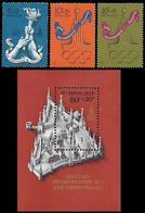 ** Soviet Union / Russia - 1976 D - Olympic Games 1980 - Mi. 4563-5, Bl. 117 - Estate 1980: Mosca