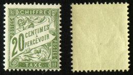 N° TAXE 31 20c Olive Neuf N** TB Cote 15€ - 1859-1955 Postfris