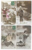 Luge Bonne Année Luge Lot De 8 CPA - 5 - 99 Postcards