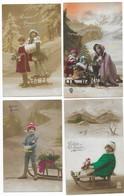 Luge Bonne Année Luge Lot De 8 CPA - Cartoline