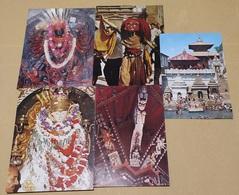 5 CART.  NEPAL  (64) - Cartoline