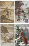 Luge Bonne Année Luge Lot De 8 CPA - 5 - 99 Cartes