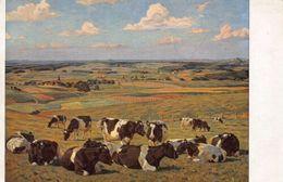 Munchen Haus Der Deutschen Kunst Willy Tag Dresden Cows Painting Postcard - Postcards