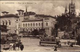 Cp Lausanne Kanton Waadt, Place De La Riponne - VD Vaud