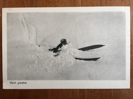 (ski) Chute Dans La Poudreuse. Carte Neuve, Vers 1920. Etat SUP. - Sports D'hiver