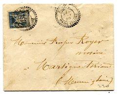 MAINE ET LOIRE De AUBIGNE Dateur B 2 Sur Env. Du 2/10/1899 - Marcophilie (Lettres)