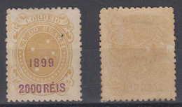 Brazil Brasil Mi# 137 * Mint 2000R Overprint 1899 - Ongebruikt