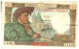 Billet  >  France > 50 Francs > C.17-7-1941.C.  >   A.94 - 50 F 1940-1942 ''Jacques Coeur''