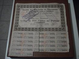 Actions - Société Des Féculeries & Glucoseries De Chalon-sur-Saône & Tournus (71) - 1er Avril 1931 - Action Au Porteur - Non Classés