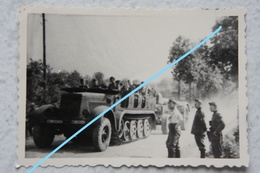 Photo German Artillery Half Track SdKfz France 1940 WW2 Militaria Artillerie Canon - Guerre, Militaire