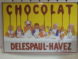 """Plaque Publicitaire """"DELESPAUL HAVEZ"""" - Pappschilder"""