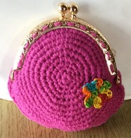 Handmade Original Knitted Coin Purse Wallet 10 Cm X 9 Cm (3.9 In X 5.5 In) - Andere