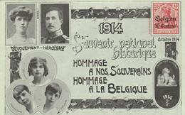 1914 - Souvenir National Historique ;Hommage à Nos Souverains,à La Belgique;Albert 1e Et Elisabeth;dévouement - Héroïsme - Patriotiques