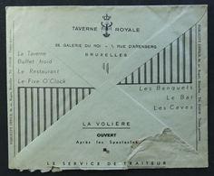 Entier Postal / Enveloppe Publicitaire 1937 - Publicité, Jambon Olida, Taverne Royale, Brasserie, Restaurant - Advertising