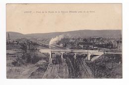 08 GIVET Pont De La Route De La Maison Blanche Près De La GARE Train Locomotive Vapeur Wagons Edit Jules Lacaillette - Givet