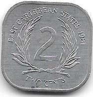 *east Caribbean States 2 Cents 1981 Km 11 Bu - Caraïbes Orientales (Etats Des)