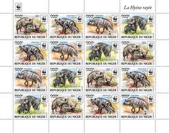 Niger. 2019 WWF Overprint (Hyaena Hyaena In Silver Hologram Foil). (0524d2) OFFICIAL ISSUE - Nuovi