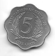 *east Caribbean States 5 Cents 1981 Km 12  Bu - Caraïbes Orientales (Etats Des)