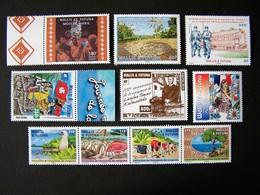 WALLIS ET FUTUNA NEUF** SANS CHARNIERE 10 TIMBRES + 1 BLOC DE L'ANNEE 2018 ( NON COMPLETE ) - Wallis And Futuna