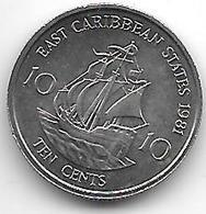 *east Caribbean States 10 Cents 1981 Km 13  Bu - Caraïbes Orientales (Etats Des)