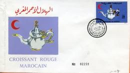 "Maroc ;FDC 1990; TP N°1084 ""croissant Rouge Marocain""Morocco,Marruecos - Morocco (1956-...)"