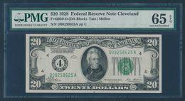 United States 1950D Fr. 2063-D PMG Gem UNC 66 EPQ 20 Dollars Cleveland FRN - United States Notes (1928-1953)