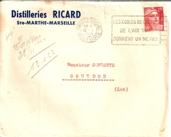 28B-----13   MARSEILLE-CAPUCINES   Flier Les écoles De L'armées De L'air ...   Gandon   Distilleries Ricard - Militares
