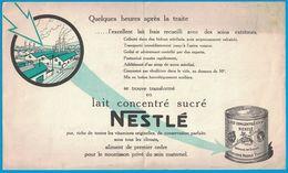 LAIT CONCENTRE SUCRE NESTLE PREPARE EN SUISSE SOCIETE NESTLE PARIS - Publicités
