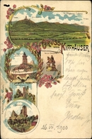 Lithographie Kyffhäuserland In Thüringen, Kaiserdenkmal, Reiterstandbild, Rothenburg - Deutschland