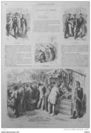 La Foire Aux Jambons à Paris - Inspection Et Dégustation Des Jambons - Page Original 1870 - Documenti Storici