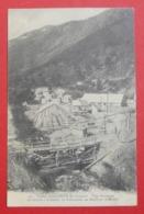 64 Urdos Tunnel Du Somport 1910 La Scierie Atelier Fabrication Moellons éd Mrassou-Castéra Bedous-Urdos Dos Scanné N°70 - Autres Communes