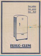 FRIGO-CLEM USINE FRIBOURG LYON MILAN CONCESSIONNAIRES POUR VOIRON ETS CLIMAT RADIO ATELIER 5 RUE DES TERREAUX GARANTI 2 - Publicités