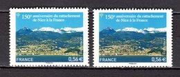 FRANCE LOT DE 2 TIMBRES DE 2010 N 4457 NEUF ** LUXE - Neufs