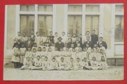 17 Royan 1910 RARE Carte-photo Ecole Et écoliers TB Animée éditeur Sorignet  Dos Scanné - Royan
