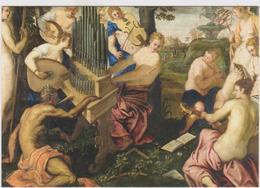 """Italie 1 Carte Postale Vierge Tableau Jacopo Il Tintoretto """"Concert Des Muses"""" 1555 Munich - Pintura & Cuadros"""